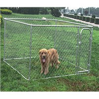7.5*7.5*4ft large outdoor chain link dog kennel