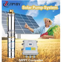 3'' & 4'' pumping machine for well solar high pressure submers pump borehole solar water pump