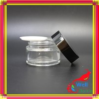 glass cosmetic jar with lid for face cream