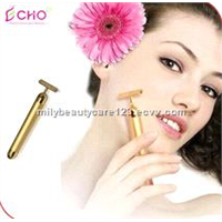 Electric T-shape Gold Energy Beauty Bar for Facial Massage