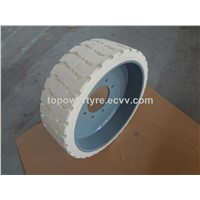 Construction Machinery Tyre 22x7x17 3/4,Non Marking Tire&rim 22x7x17 3/4,Genie Lift Wheel