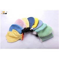 Microfiber cleaning household gloves