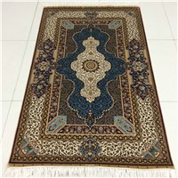 Oriental hand knotted silk rug persian silk carpet