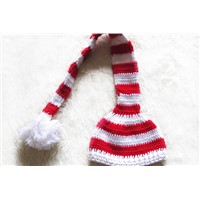 100% Cotton Handmade Crochet Christmas Hat for Girls