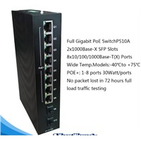 10 Gigabit Ethernet Ports Industrial PoE Switch with 2 SFP Slots P510A