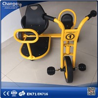 Kids preschool tricycle taxi with galvanized pipe material