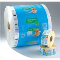 custom printed food packaging plastic roll film protective plastic film color laminating film