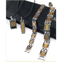 Wholesale Lover Energy Titanium Bracelet with Strong Magnet, Germanium, Negative Ion & Far