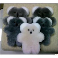 100% Sheepskin Baby Soft Plush Bear Toy