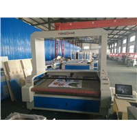 100W CCD Vision Laser Cutting Machine w/Scanning Camera for Sportswear Contour Cutting/HQ1610V