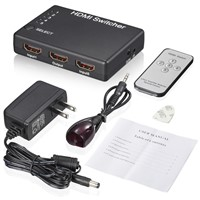 5 Port 1080P HDMI Switch Splitter 3D 5 HD INPUT 1 OUTPUT