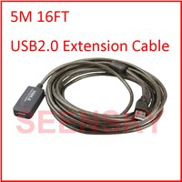 5M 16FT USB 2.0 Extension cable Computer Printer Connectors Cables Signal Booster A Male to A Female