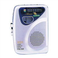 AM/FM 2 Band Radio with Cassette Player with Built-in Speaker