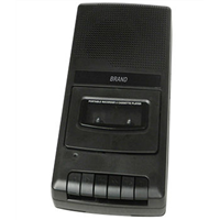 Retro cassette player and recorder in shoe box size for conference and language learning, USB port