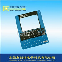 Customized Membrane English keyboard touch panel with window