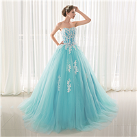 New Arrival Strapless Satin and Organza A Line Wedding Dresses Lace up back Bridal Gown ID0085