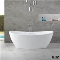 Kingkonree solid surface artificial stone bathroom bathtub