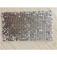 Silver and gold sequin metal mesh curtain