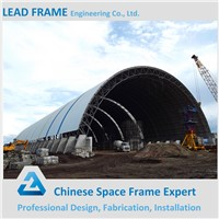 long span steel structure space frame for coal storage