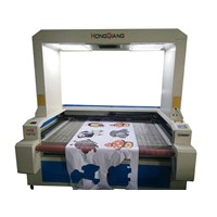 100W CCD Vision Laser Cutting Machine w/Scanning Camera for Sportswear Contour Cutting/HQ1810V
