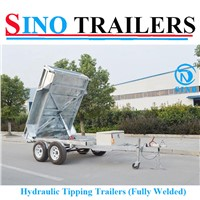 3t Fully Welded Heavy Duty Hydraulic Tipping Tandem Box Trailer