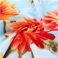 100% Cotton Fabric with Flower Printed