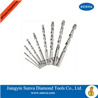 SUNVA Diamond Coated Twist Drill Bits