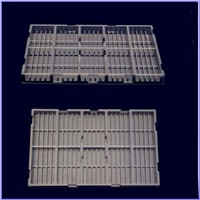 disposable rectangular plastic food tray