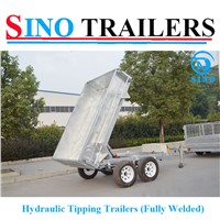 2000kgs Customized Double Axle Cage Trailer with Tipping System