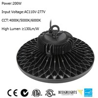 2016 UFO DLC UL 200w LED Highbay LED MeanWell Driver 5 Years warranty UFO LED High Bay Light