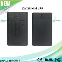 12V 2A backup portable mini ups 24w for Security / Monitoring / Alarm