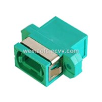 Fiber Optic Adapter Adaptor Coupler MPO-MPO OM3 Aqua Plastic Housing