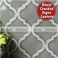 Arabesque Design Heavy Crackle Super Lantern Mosaic Tile Kitchen Backsplash Tile