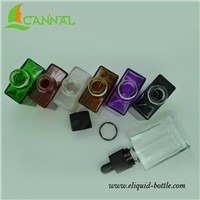 Ecannal ecig liquid use 30ml rectangle glass bottles