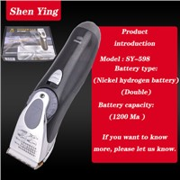 Professional Hair Clipper Hair Cut with 900mA of Nickel Cadmium Battery of Double Battery