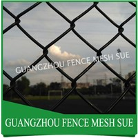 Anti rust vinyl coated chain fencing black vinyl fencing price