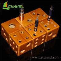 Ecannal Cubic Artistic vaporizer ecig wooden display stand