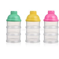 Multi Functional Baby Powder Milk Container , Plastic Baby Powder Box 3 Layers