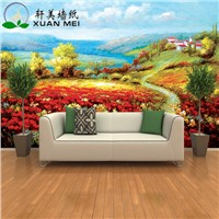 Quality customizable 3D interior home decoration custom size mural wallpaper