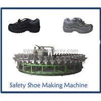 Safety Shoes PU Semi-Automatic Injection Molding Machine Production Line
