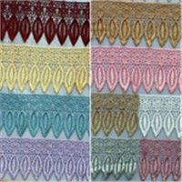Factory Sale Willow Leaves Polyester Embroidery Lace Trim for Curtains & Garment & Home Textiles & Bedding Accessories