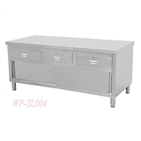 Stainless Steel Kitchen Working Table with Cabinet & Drawers