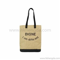 recycle washable kraft paper tote bag shopping bag