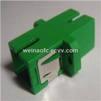 Optical Fiber Adaptor SC-SC APC Simplex Plastic Housing Green