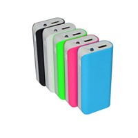 Portable mobile power supply, 4000mAh to 5200mAh, with LED light