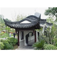 Suzhou garden roof material China traditional clay tiles
