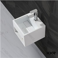 China wholesale Solid Surface Bathroom Basin Wall Hung