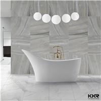 moon shape freestanding acrylic soaking bathtub