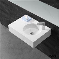White Solid Surface Acrylic Stone Bathroom Sink