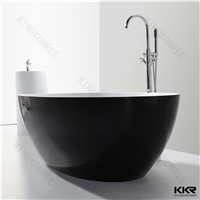 small size acrylic solid surface black round bathutb